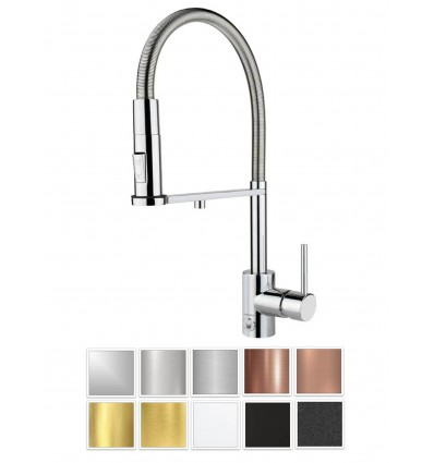 GUGLIELMI PURA Still Touch Kitchen faucet with filtered water connection with pull-out hand schower