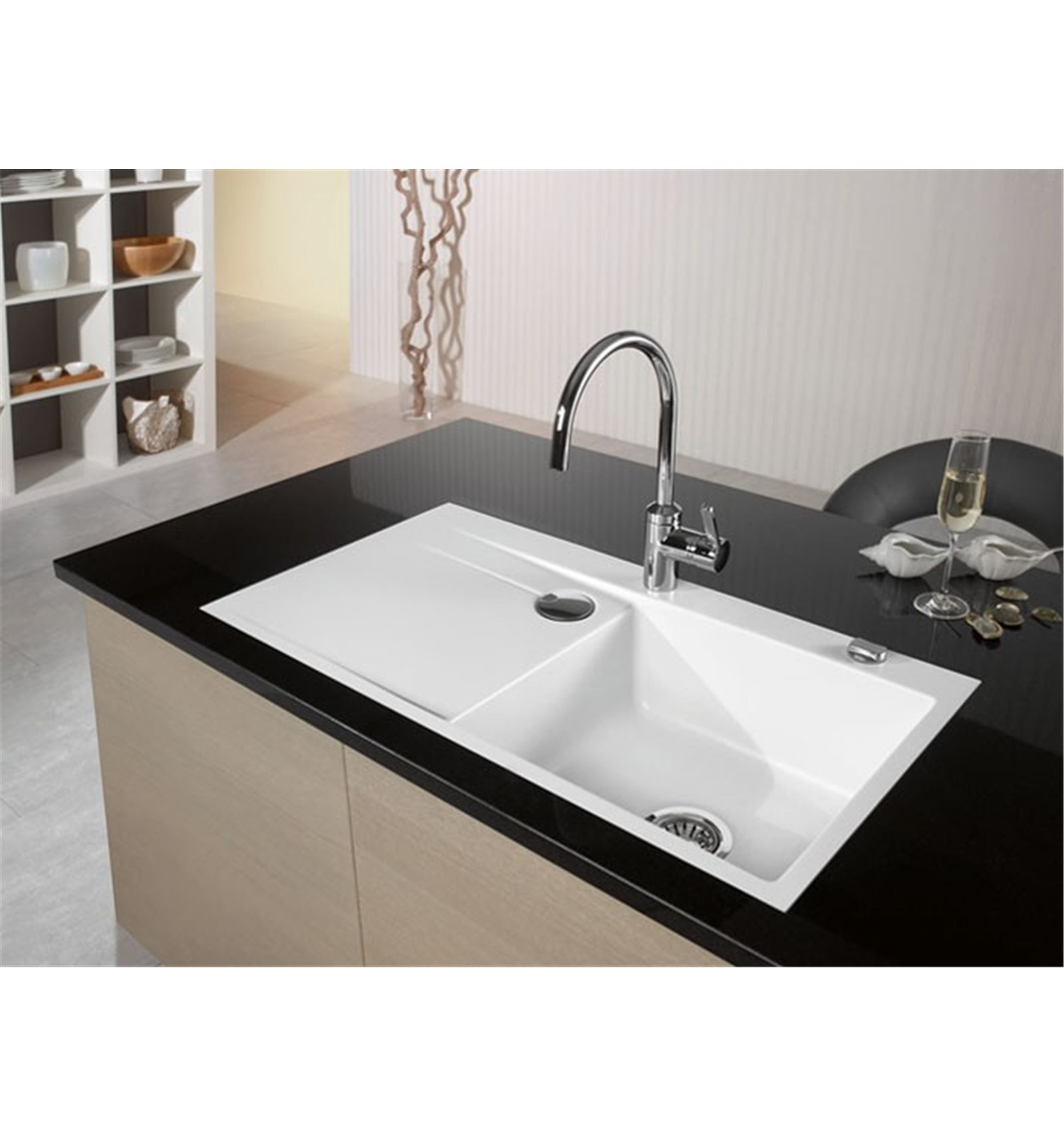 Systemceram Stema 90 Ceramic Kitchen Sink