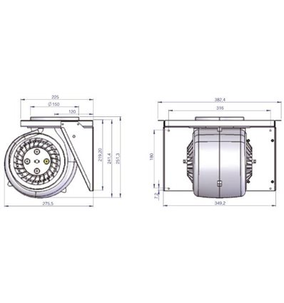 Motor for ILVE IAG Hoods A/407/04