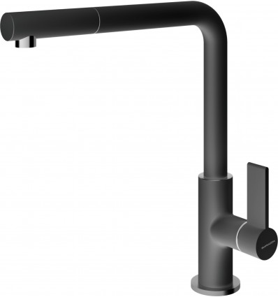 BARAZZA UNIQUE TWO SHOWER 1RUBUN2 Kitchen Taps with swivel spout pull-out hand shower