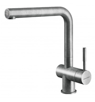 BARAZZA STEEL SHOWER VINTAGE 1RUBMSTDV, WITH SWIVEL SPOUT PULL-OUT HAND SHOWER
