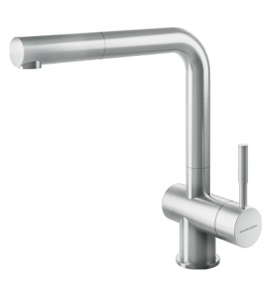 BARAZZA STEEL SHOWER 1RUBMSTD, WITH SWIVEL SPOUT PULL-OUT HAND SHOWER