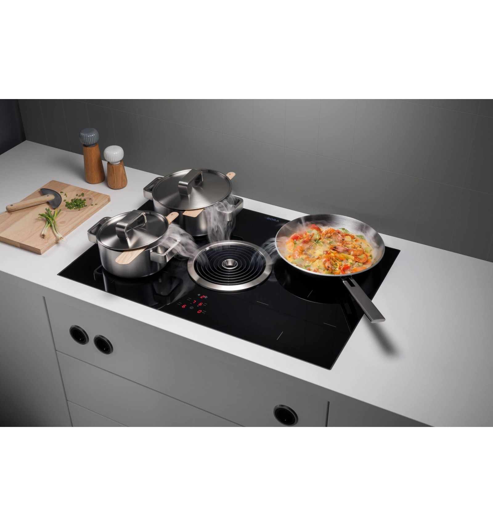 bora basic bia induction hob with extractor extractor