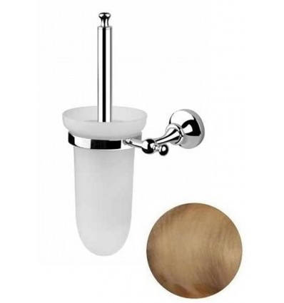 BUGNATESE TRADITION 24825 Toilet brush holder for wall with satin Glass