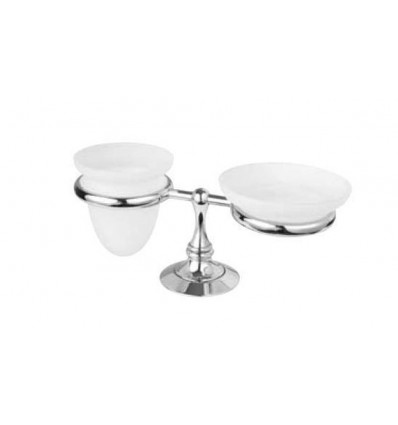 BUGNATESE TRADITION 24801 Standing Soap and Glass holder with Satin Glass